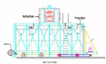 Industrial furnace with thermal oxidizer for US Government diagram