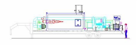 Trailer mounted oxidizer with afterburner diagram